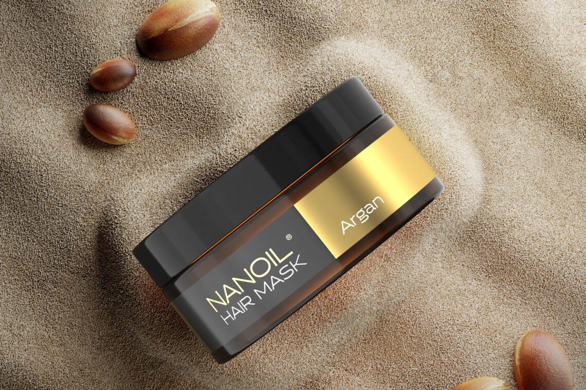 Nanoil Haarmaske mit Arganöl für starke Haare.